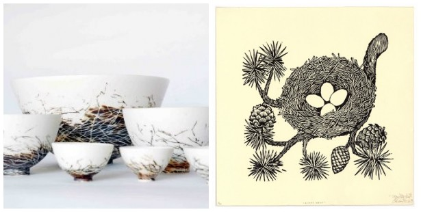 Bird nest mosaic 3