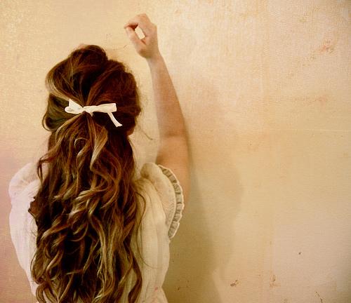 I always wear my hair down so