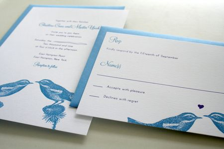 things are better with a parrott: birds in love wedding, Wedding invitations