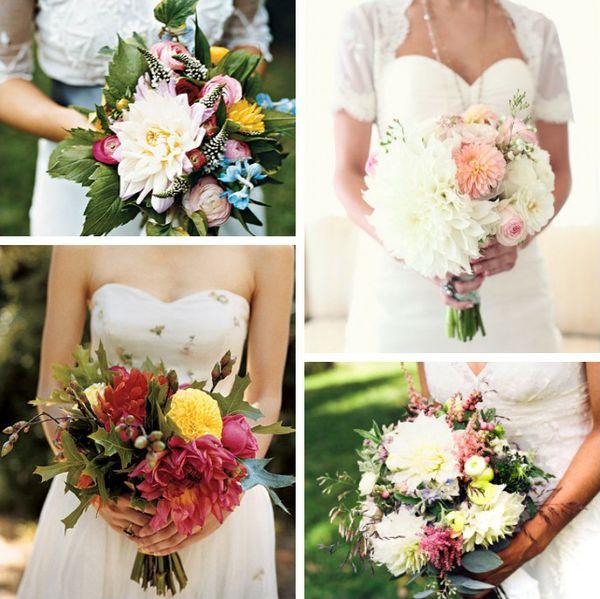 Homegrown Wedding: Dahlia Bouquets