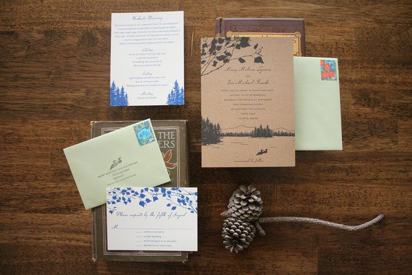 Lake Themed Wedding Invitations: Things Are Better With A Parrott: Rustic Maine Wedding