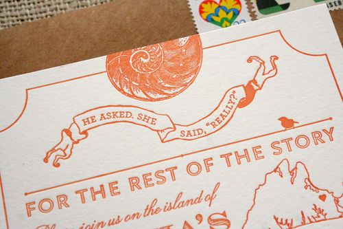 things are better with a parrott Marthas Vineyard Wedding Invitation