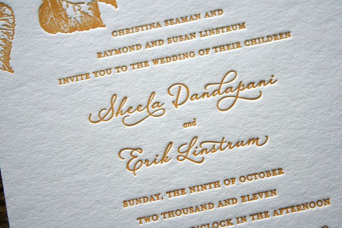 The Suite Included An Invitation, Double Sided RSVP Postcard, U0026 An  Information Card With The Coupleu0027s Wedding Website. Each Piece Was  Letterpress Printed In ...