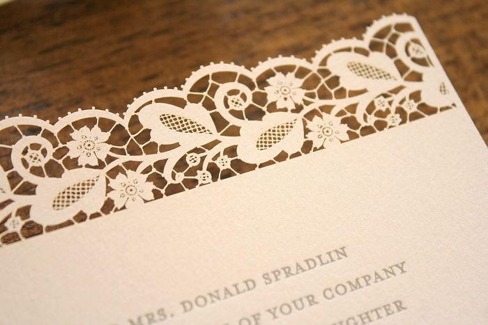 things are better with a parrott romantic lace letterpress wedding