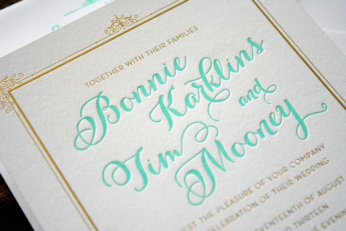 things are better with a parrott: elegant bird gold foil +, Wedding invitations